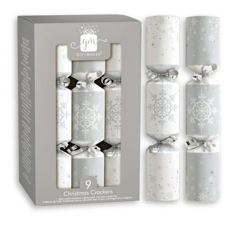 Silver & White Cube Crackers