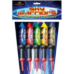 Sky Warriors Double Burst Rockets 5 Pack