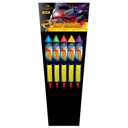 Sky Force 5 Rockets 5 Pack